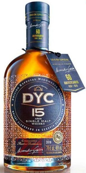 Виски Дик Сингл Молт Ресерв 15 лет 0,7л, 40% Whisky DYC Single Malt Reserve 15 y.o. 70cl Испания