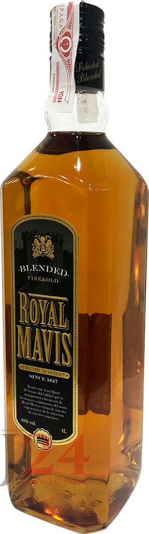 Виски Роял Мевис Файн Голд Блендед 1л, 40% Whisky Royal Mavis Fine Gold Blended 1L Испания