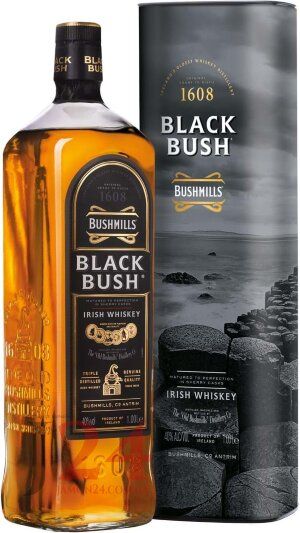 Виски Бушмилс Блэк Буш 1л, 40% Whisky Bushmills Black Bush Ирландия