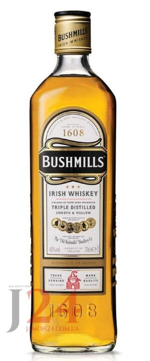 Виски Бушмилс Ориджинал 1л, 40% Whisky Bushmills Original Irish Ирландия