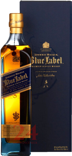 Виски Блю Лейбл, Джонни Уолкер 25 лет, 0,75мл, 43% Whisky Blue Label, Johnnie Walker 25 y.o. Шотландия