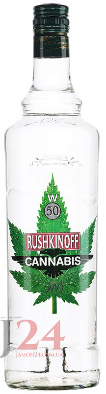 Водка Рушкинофф Каннабис 1л  Vodka Rushkinoff Cannabis