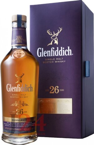 Виски Гленфиддик Экселенс 26 лет, 0,7л, 43% Whisky Glenfiddich Excellence 26 y.o. 70 cl Шотландия