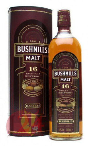 Виски Бушмилс Молт 16 лет, 0,7 л. 40% Whiskу Bushmills Malt 16 Years old