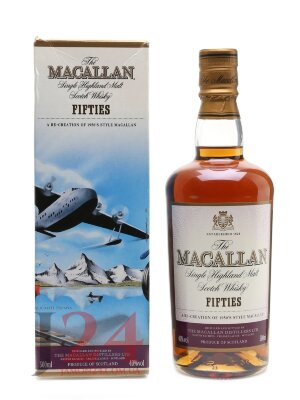 Виски Макаллан Фифти Тревел Сириес 0,5л, 40% Whisky Macallan Fifties Travel Series 50 cl Шотландия