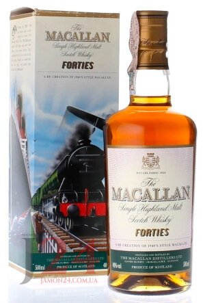 Виски Макаллан Фоти Тревел Сириес 0,5л, 40% Whisky Macallan Forties Travel Series 50 cl Шотландия